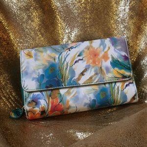 BUNDLE 4/$25 | Orange and Blue Floral Wallet